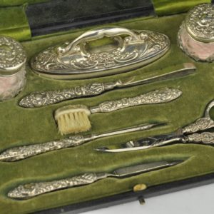Antique English manicure set