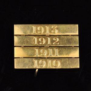 Antiikne medalilindi pannal 1910-13, kuld 18 kar. Rootsi