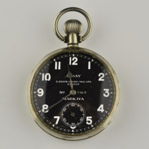 Antique military pilot pocket watch mark IVa, metal