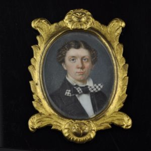 Antique miniature painting on ivory