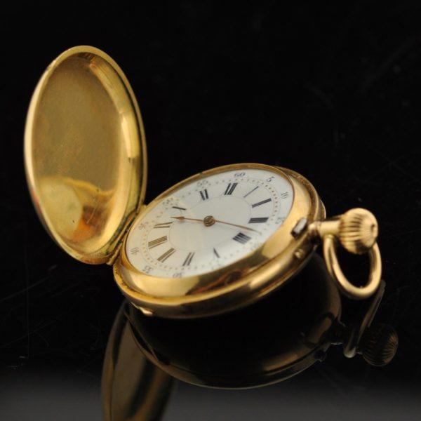 Antiikne naiste uur - kuld 750, briljandid, email