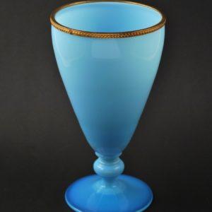 Antique opal glass chalice / vase