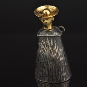 Antique perfume bottle, silver