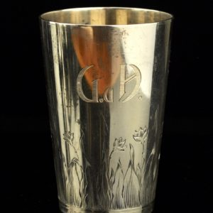 Antique beaker, 830 silver