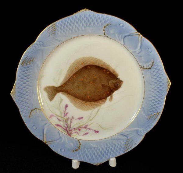 Antiikne portselan taldrik kalaga, käsimaal Royal Copenhagen n