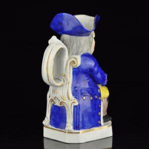 Antique porcelain Toby jug, XIX s