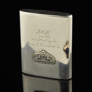 "Antique cigarette case ""EKA"" 875 silver"