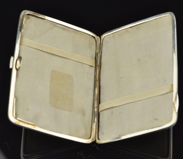 Antique cigarette case ivory, silver - Tillander 1917