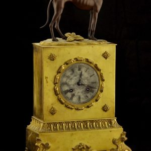 Antique bronze clock SOLD