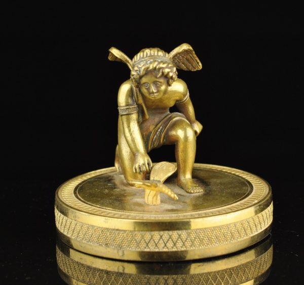 Antique bronze figure