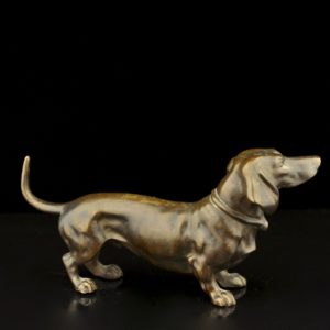 Antique bronze figure - Dog