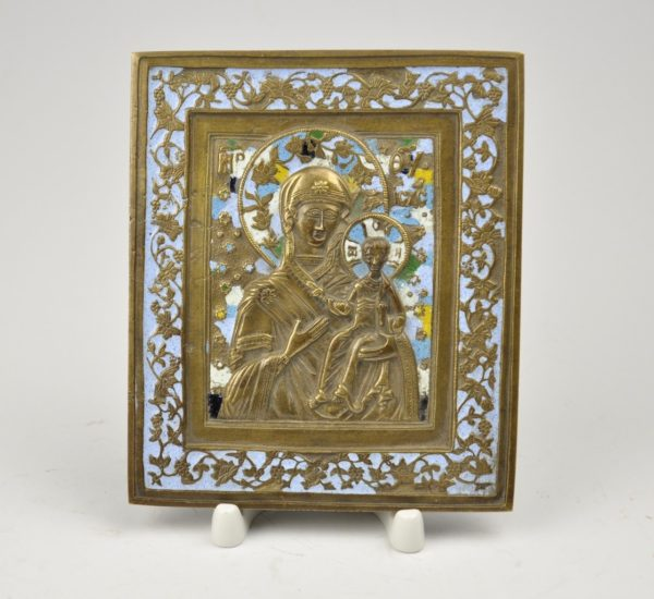 Antique bronze icon