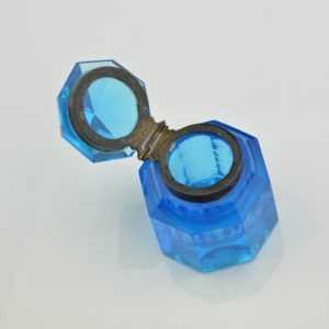 Antique bottle, blue glass