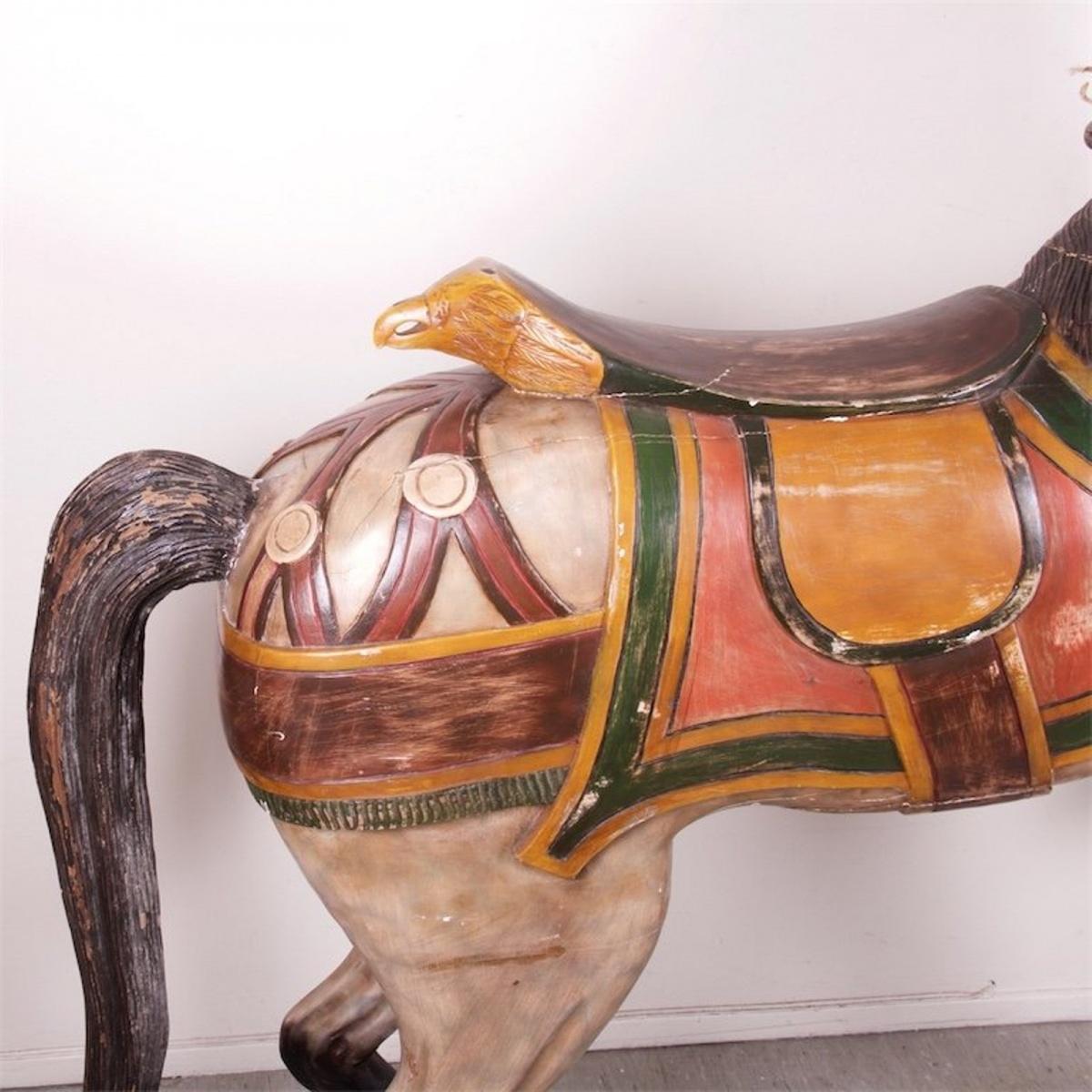 Antique Wooden Horse Idla Antiik