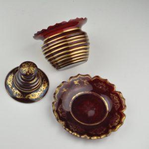 Antiikne punane klaasnõu, 19. saj. käsimaal
