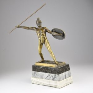 Antique bronze figure - W.Völz