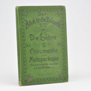 """Antiikne saksakeelne raamat Chiromantie"""" Bruno Schaff 1900a"""""""