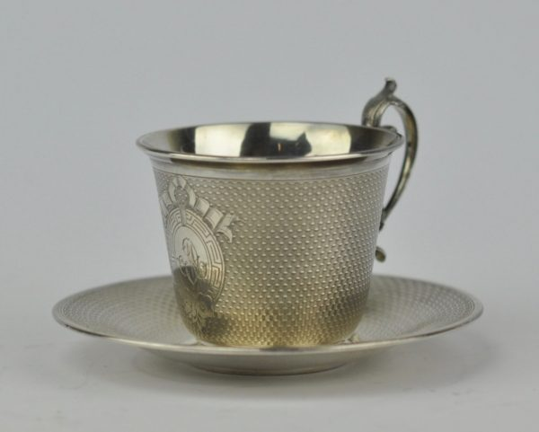 Antique silver cup - French