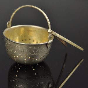 Antique silver tea infuser