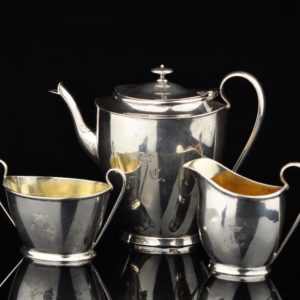 Antique miniature silver set, Swedish 1907