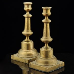 Antiques 19th century candle holders 2pcs