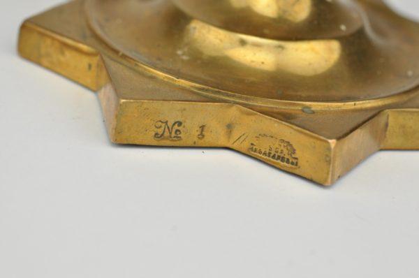 Antiiksed Tsaari-Vene pronksist küünlajalad 2 tk