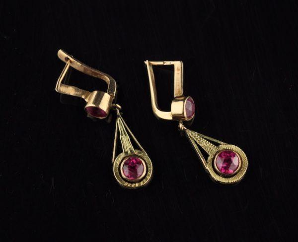 Antiiksed kõrvarõngad, kuld