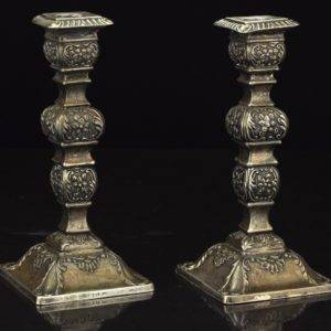 Antique Candle Holders, English Silver