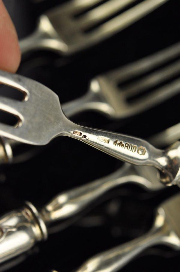 Antiiksed kahvlid 6 tk. hõbe