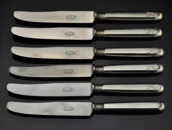Antique forks and knives, silver 875, Joseph Rubin