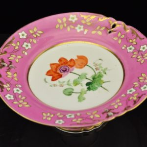 Antique Porcelain Handwriting Daisy and 4 Plates in English