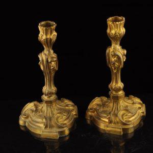Antiiksed pronksist küünlajalad 2 tk. XIX saj. 14145 C1470