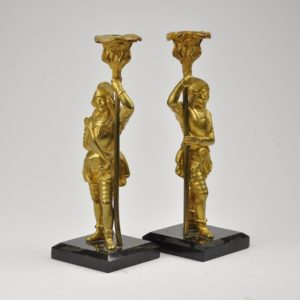 Antique bronze candlestick 2 pc.