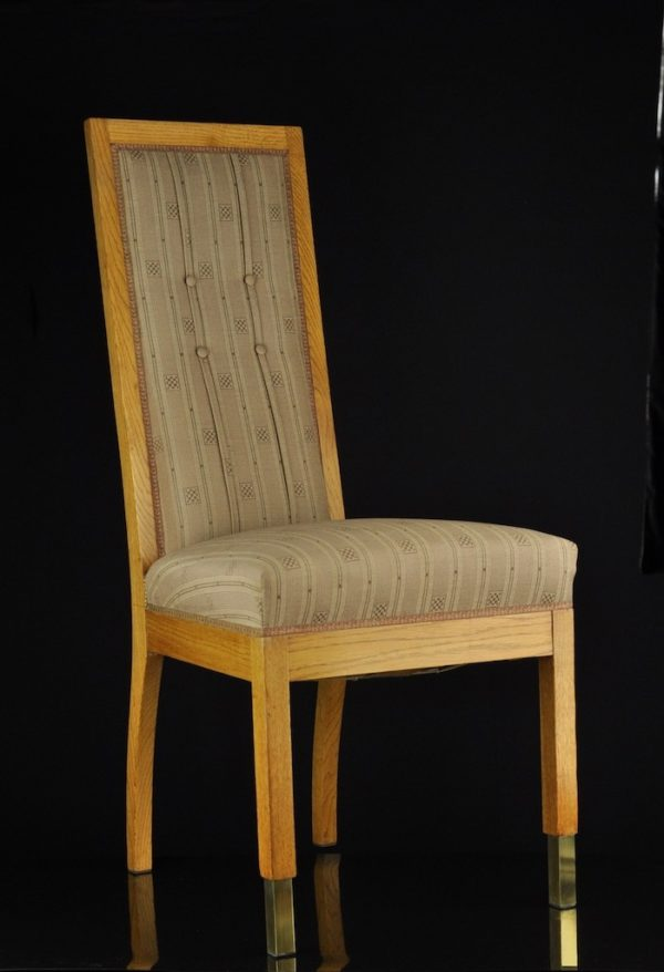 Art deco chairs with fabric 4pieces