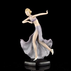 Art Deco woman figure porcelain