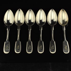Antique spoons, silver 875, Kopf