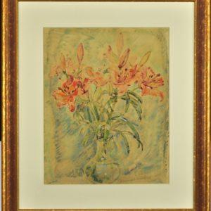 "August Jansen's ""Lilies"" monotype"