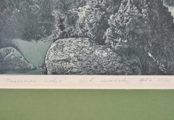 Benjamin Vasserman Saaremaa motive 1985y, etching, aquatint