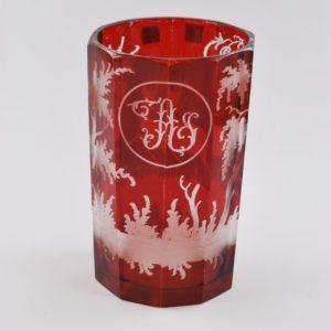 Bohemia punane klaas