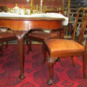Chippendale-style table and three chairs skin