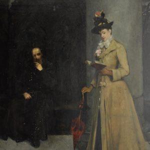 """Clara Löfgren 1843- 1923 Õlimaal """"Daam raamatuga"""" 15186"""