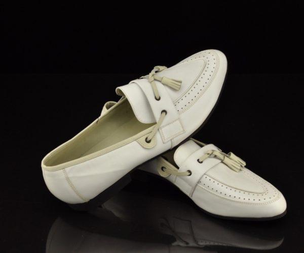 """ENSV aegsed Välgu"""" meeste valgest nahast kingad"""""""