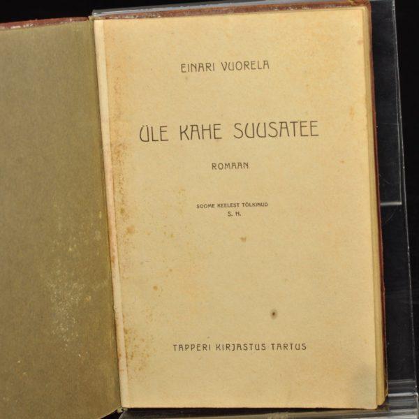 """EW aegne raamat Einari Vuorela """"Üle kahe suusatee 1928"""