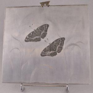 Ede Kurrel copper plate 'Butterfly' 1984y.