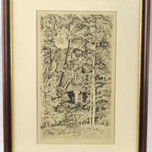 Edith Paris Ants Laikmaa second homes etching, 1958y