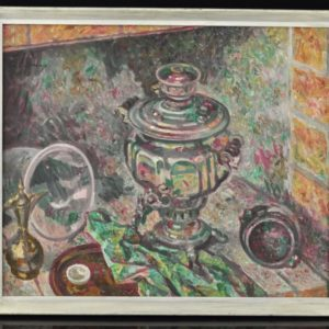 """Eduard Einmann (1913-1982)Natüürmort samovariga"""" 1972a"""""""