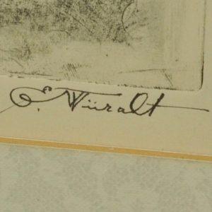 """Eduard Wiiralt 1898-1954 Eesti neiu"""" 1942a MÜÜDUD"""""""