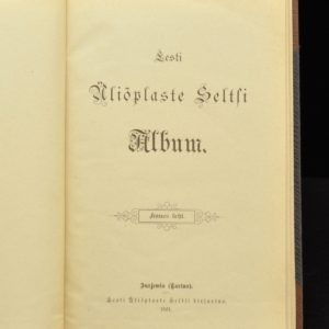 Album 1901a of the Estonian Student Society