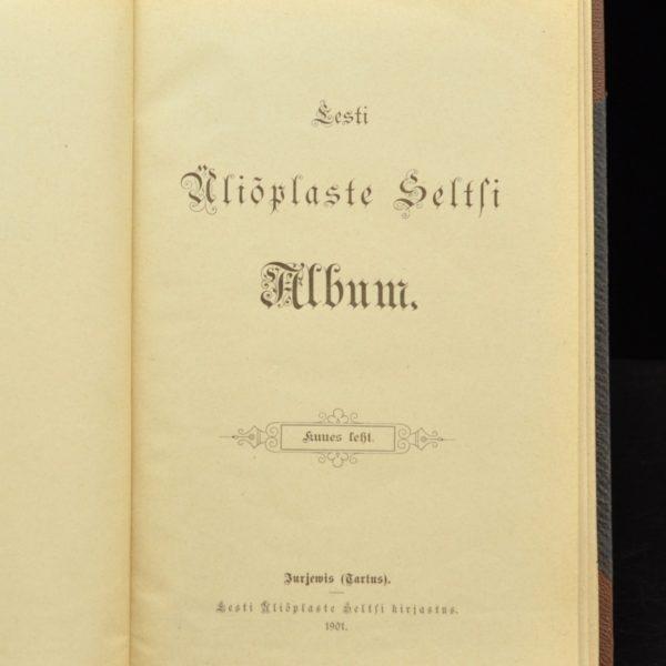 Eesti Üliõpilaste Seltsi Album 1901a