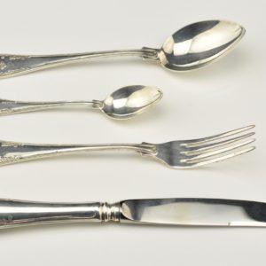 Egoisti komplekt-kahvel,nuga,lusikas,kohvilusikas 830 hõbe